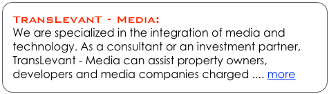 TransLevanT - Media: We are specialized in the integration of media and technology. As a consultant or an investment partner, TransLevant - Media can assist property owners, developers and media companies charged .... more